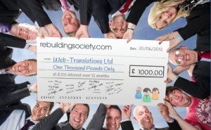 Crowd funding cheque