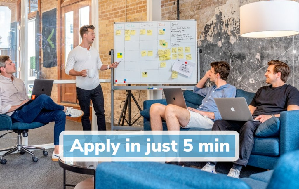 Apply for a small business loan in under 5 minutes